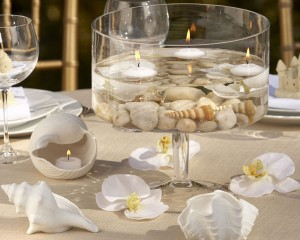 Сервировка, свечи ицветы