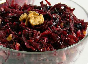 польза вареной свеклы, салат из свеклы с черносливом