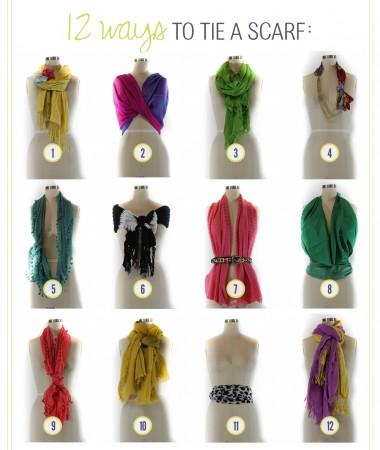как красиво завязать платок на шею