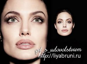 макияж,как у Анджелины Джоли