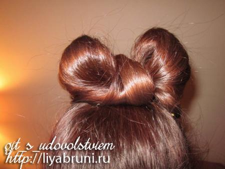 как сделать бантик из волос на голове