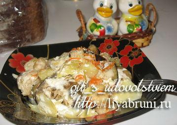 рыбная запеканка с картошкой