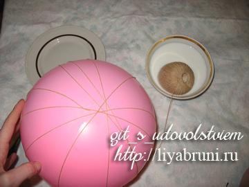 как сделать шарик из ниток своими руками