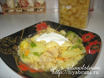 овощное рагу на сковороде