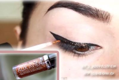 макияж со стразами на глазах видео