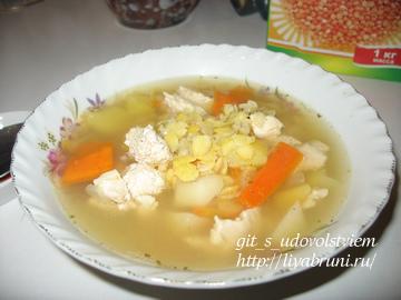 гороховый суп с куриным филе