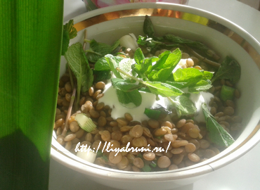 чечевица с луком и зеленью
