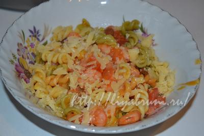 Рецепт с фото: итальянская паста с креветками и помидорами!