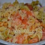 Рецепт с фото паста с креветками и помидорами!