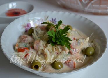 тушеные овощи в сметанном соусе