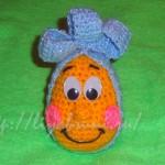 вязаное пасхальное яйцо