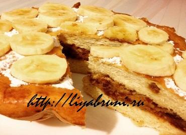 пирог с бананами в духовке