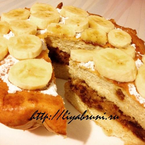 пирог с бананми в духовке