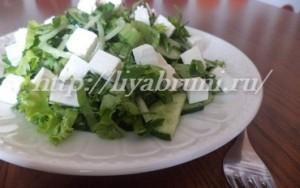 Вкусный зеленый салат